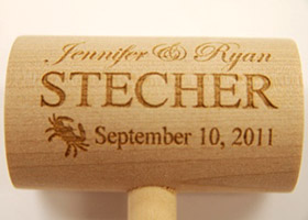 customized wedding crab mallet